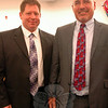 James Ross, left, was unanimously selected as Newtown Middle School's assistant principal during the school board's Monday, June 30, meeting. Standing with him is NMS Principal Thomas Einhorn. (Hallabeck photo)