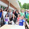Representing many of the businesses awarded in the Best of Fairfield County Reader's Choice Poll conducted by CTNow.com, and several town officials, from left, seated, are Director of Economic and Community Development Elizabeth Stocker, Kathy Leaman (Salon Michelle), Irene Caulfield (Sabrina Style),  Naturopathic Physician Dr Deb Bossio, Alexa Calo (CrossFit Hook'd); standing middle row, Melissa Ranadan and Yilenny Nunez  (PhysiciansOne Urgent Care Newtown), Debra Sullivan (Newtown MediSpa), Melanie Mattegat (Julie Allen Bridal), Jacquie Davis (Salon Michelle), Patty Sullivan (Newtown MediSpa), First Selectman Pat Llodra, Lauren Milano (CrossFit Hook'd); standing back row, Andy Sachs (Coldwell Banker), Betsy Paynter (Economic Development Commission), Steve Ford (Butcher's Best), Land Use Agency Director George Benson, and Ryan Berger (CrossFit Hook'd). (Bobowick photo)