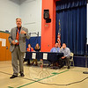 """Hawley School Principal Christopher Moretti noted that the future of the school is an """"emotional issue"""" that is also a """"community issue."""" (Bobowick photo)"""