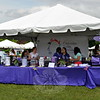 Volunteers staff the tent selling items to support  the Catherine Violet Hubbard Animal Sanctuary. (Crevier photo)