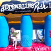 Hawley Elementary School held its Field Day on Friday, May 29. During the day a Adrenaline Rush 2 inflatable obstacle course was set up. Student Jolene Brackett made her way out of the course after completing it. (Hallabeck photo)