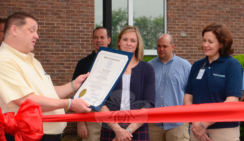 EverWonder Children's Museum, at 31 Pecks Lane, had a grand opening on Saturday, June 6. The establishment of a permanent home for the museum and learning center was finalized as several dozen supporters joined volunteers, staff, and local officials gathered for a ribbon cutting. In addition, State Representative Mitch Bolinsky presented a congratulatory proclamation from the State Legislature to EverWonder Director Karen Smiley and co-founder Kristin Chiriatti.