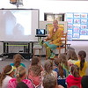 Author and illustrator Lita Judge spoke with Head O' Meadow Elementary School students on Tuesday, May 12, in the school's library. (Hallabeck photo)