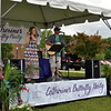 Father/daughter duo, LaFrance Acoustics, provide live music for Catherine's Butterfly Party. (Crevier photo)