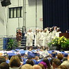 Members of the NHS Class of 2015 Student Government led their classmates in moving tassels from left to right, signifying their official change of status from high school senior to graduate Tuesday evening. (Hicks photo)