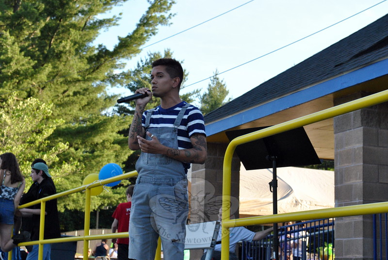 Singer Gregori Lukas performed during the June 13 Relay For Life event. (Hallabeck photo)