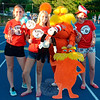 A number of Relay for Life participants took on the Dr Seuss theme for the Saturday, June 13 event. From Anna Pickney, Sara Lampel, and Maddie Aug stood with Terry Clarke Murphy — The Lorax.(Voket photo)