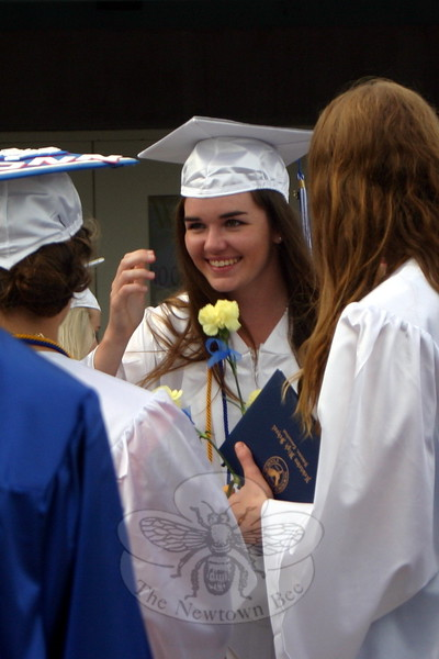 Newtown High School held its Commencement Ceremonies for the graduating Class of 2015 at Western Connecticut State University's O'Neill Center on Tuesday, June 16. (Hicks photo)