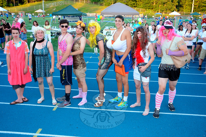 The Newtown 2015 Relay For Life Ms Relay contestants presented quite a lineup as they posted together. (Voket photo)