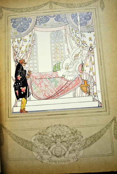 Mary Stambaugh of Newtown donated several books illustrated by early 20th Century illustrator Edmund Dulac, known for his delicate drawings such as this one. (Crevier photo)