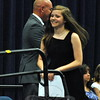 NMS graduating eighth grader Ashley Solomon was recognized, along with other students who earned awards this year, during the Moving Up Ceremony for being awarded the Newtown Middle School Citizenship Award.   (Hallabeck photo)