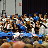 "The Newtown High School Chamber Choir sang ""I'll Be There For You"" during the graduation ceremony for the Class of 2015 on Tuesday, June 16. (Hallabeck photo)"