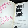 An autographed copy of Yippe Abbie Hoffman's steal this book is among the interesting items in this year's upcoming annual library book sale. (Crevier photo)