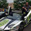 Bryan Salamone posed with his world-famous Lamborghini Aventador ahead of the Kindness Dream Ride. (Gallagher photo)