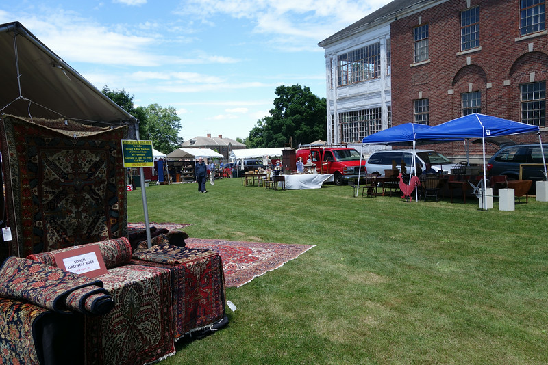 The first Newtown Antiques Market was staged on June 21 at Fairfield Hills.    (R.S. Smith photo)