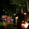 A section of Berkshire Road was closed for approximately 5½ hours late Saturday night into Sunday morning following the accident. Stevenson and Sandy Hook firefighters and ambulance crews and Newtown Police initially responded. Connecticut State Police then responded to do an-site investigation before the vehicle could be removed from the ravine. Drivers were routed onto Route 111 from Monroe and Jordan Hill Road in Sandy Hook in order to get around the accident scene.   (Hicks photo)
