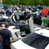 """A June 14 car show and raffle held outside Stop & Shop in Sand Hill Plaza featured a DJ, the Big Beat Band, food, activities for the kids, and dozens of hot rods, classics, customized, and stock vehicles ranging from vintage to a gull wing DeLorean complete with its space age """"flux capacitor."""" The event raised $10,000 in food and cash donations for FAITH Food Pantry.  (Voket photo)"""