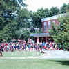 Newtown Middle School students surged out of the school after being dismissed for the summer on June 18.    (Hallabeck photo)