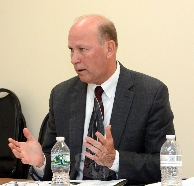 Police Chief Michael Kehoe speaks at the June 2 meeting of the Police Commission. The commission accepted his letter announcing his retirement from the police department effective January 6, 2016. (Gorosko photo)