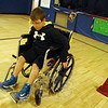 Middle Gate Elementary School fourth grader Jack Corigliano navigated around cones using a wheelchair during Middle Gate's annual Differences Day, celebrated this year on Wednesday, February 25. (Hallabeck photo)