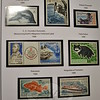 In one of many albums of stamps Mr Lund has collected over his lifetime, are several from Antarctica. Placed on preprinted pages designating where certain stamps should go, they are an example of a theme collection, in this instance, one continent. (Crevier photo)