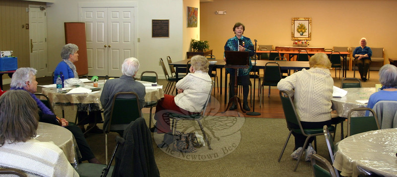 Elizabeth Ricci gave the keynote address for Church Women United of Newtown-Bethel's Human Rights Celebration on March 7. This year's event was held in the Nunnawauk Meadows Community Building. (Hicks photo)