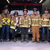 The Sandy Hook Volunteer Fire & Rescue members who have responded to the invitation to walk with brother and sister firefighters are, from left, Firefighters Karl Sieling, Jr, Mike McDonald, and Pete Barresi, Lieutenant Kevin Stoyak, and Firefighters Sean Donnelly, Brandon Gonzalez, and Rob Sibley. Nearly 30 firefighters will walk and run the Sandy Hook 5K wearing full gear, including airpacks. (Hicks photo)