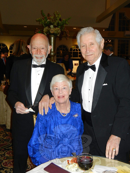 Dr Robert Grossman, left, and Josephine and John Luicci enjoyed the evening, sharing a bit of time together at cocktail hour before the festivities began. (Sherri Smith Baggett photo)