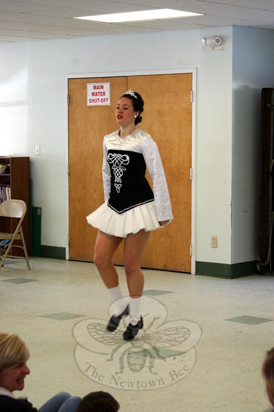 Dancers, including  Sarah Mallon, from The Gray School of Irish Dance visited Wesley Learning Center on March 9 to offer a pre-St Patrick's Day dance performance. (Hicks photo)