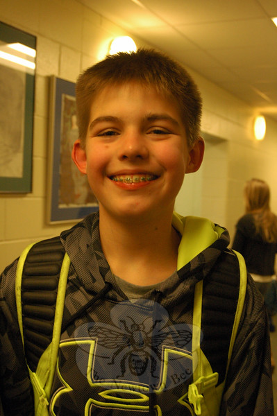 The Newtown Bee: Why should people go see Newtown Middle School's production of Shrek The Musical Jr, showing March 27 to 29? Trey Hazard: I think it is going to be a really great event for Newtown and it is going to bring a lot of people together. (Hallabeck photo)