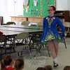 Dancers from The Gray School of Irish Dance visited Wesley Learning Center on March 9 to offer a pre-St Patrick's Day dance performance. Genevieve Mallon, midstep during a light jig. (Hicks photo)