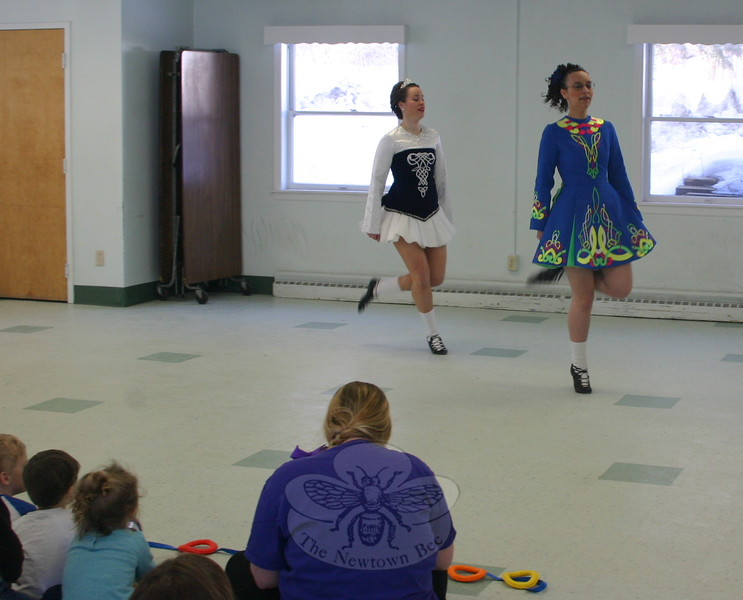 Dancers from The Gray School of Irish Dance visited Wesley Learning Center on March 9 to offer a pre-St Patrick's Day dance performance. (Hicks photo)