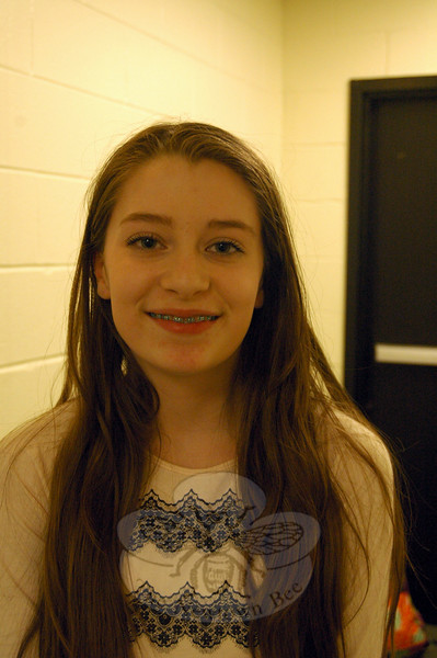 The Newtown Bee: Why should people go see Newtown Middle School's production of Shrek The Musical Jr, showing March 27 to 29? Isabella Wakeman: I feel like we put so much effort into it, and it's going to pay off. (Hallabeck photo)