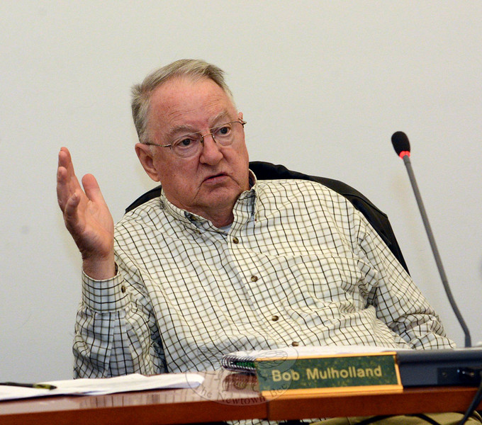 Longtime Planning and Zoning Commission (P&Z) member Republican Robert Mulholland was elected to a second one-year term as the agency's chairman at a March 19 P&Z session. Mr Mulholland had served as vice chairman before becoming chairman. (Gorosko photo)