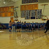 """Head O' Meadow physical education teacher Steve """"Coach"""" Dreger coached the Newtown team, which was made up of district teachers, staff, and administrators. The team was introduced before the took on the Harlem Wizards during the Sunday comedy basketball fundraiser. (Hallabeck photo)"""