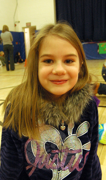 The Newtown Bee: What is an example of a kind act? Sarah Ruhs: If someone at recess doesn't have anyone to play with they can play with them so they won't be alone. (Hallabeck photo)