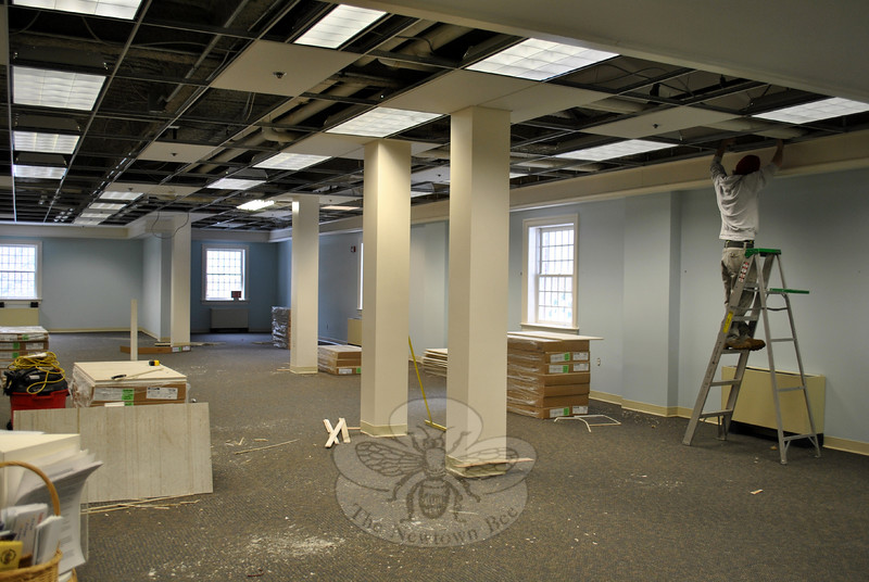 Steady progress on flood remediation means that C.H. Booth Library Children's Department could open as soon as Monday, March 9. (Crevier photo)