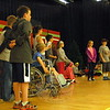 Reed Intermediate School students rehearsed for the upcoming musical production of Annie Jr on Tuesday, April 28. (Hallabeck photo)