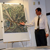Paul Metsack, Jr, a state Department of Transportation (DOT) project engineer, describes a variety of changes that the DOT is planning for the Exit 11 interchange of Interstate 84 and the surrounding area in seeking to improve traffic flow in a congested section of Sandy Hook. (Gorosko photo)