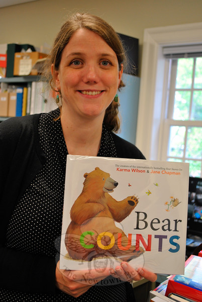 "Technical Librarian Kate Sheehan is looking forward to sharing the ""Bear"" series with her 2-year-old son this summer.	(Crevier photo)"