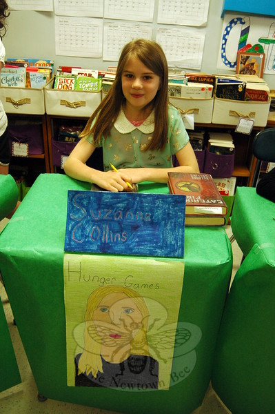 Middle Gate Elementary School fourth graders presented their Living Biographies projects on Friday, May 1. Each student represented their person they studied during the event. Sarah Ruhs studied Suzanne Collins. (Hallabeck photo)