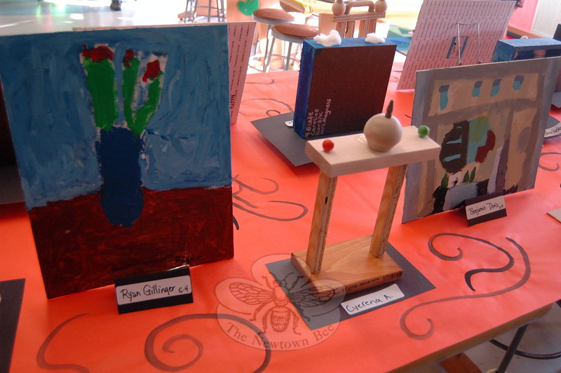 Sandy Hook School fourth graders had their art work on display during the school's Student Art Show on Thursday, May 7. (Hallabeck photo)