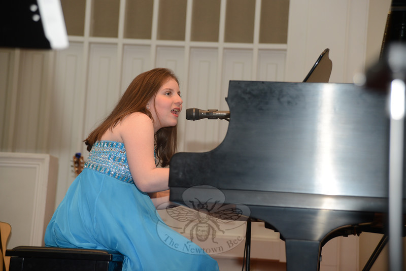 The evening's guest performer and YouTube sensation Jodi DiPiazza performed several songs throughout the evening concert, the third annual benefit concert hosted by Families United in Newtown. (Bobowick photo)