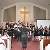 "The Newtown High School Chamber Choir was among the evening's performers during the benefit concert ""Celebrating Movie Music,"" to support Families United in Newtown, on May 16. The students filled the Congregational Church with their a cappella version of Leonard Bernstein's ""Somewhere,"" from West Side Story. (Bobowick photo)"