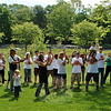 "Approximately two dozen people popped up on the Dickinson Park field Monday morning, May 25, to join Kat Holick, Newtown's dancing traffic agent, and Ryan Costa, who is undergoing treatment for leukemia, as they danced to ""Play It Again"" by Luke Ryan, with sound provided by Linda Perrault. Ryan's mother, Julie Barbeau, challenged Ms Holick to take on TV talk show host Ellen Degeneres's ""Just Keep Dancing"" challenge, to raise awareness of pediatric cancer. ""I'm honored!"" exclaimed Ms Holick. ""That little boy has the cutest smile you've ever seen."" A video of the challenge will be sent to Ellen Degeneres, said Ms Holick, who issued a continuing challenge to ""Just Keep Dancing"" to pop stars Pink and Cher, and Laurie Pineau and the Sunshine Kids. ""I just wanted [Kat] to do a video of herself. I never thought it would get this big,"" laughed Ms Barbeau. (Crevier photo)"
