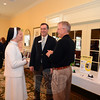 St Rose School Principal Sister Colleen Smith speaks with Newtown Chamber of Commerce President Tim Haas and Treasurer Scott Anderson on May 20. The three were among those attending Destination Newtown, an annual business showcase presented by the local Chamber of Commerce. (Bobowick photo)
