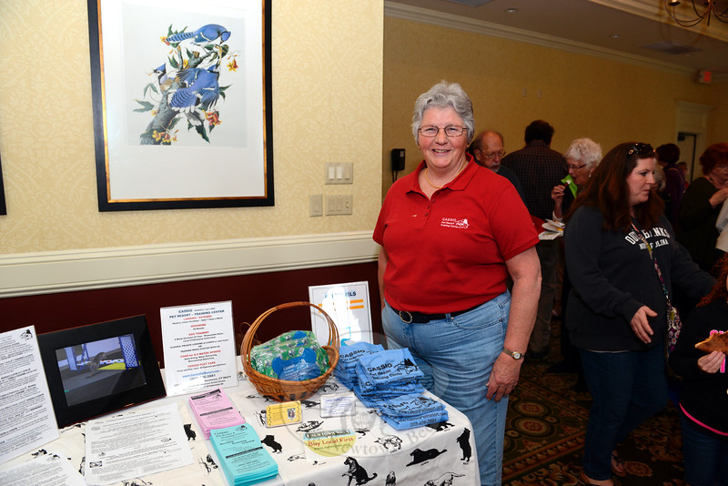 Joy Brewster of Cassio Kennels offered guests information on her Mt Pleasant Road kennel and training services at Destination Newtown, an annual business showcase presented by the local Chamber of Commerce, held on May 20. (Bobowick photo)