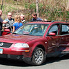 A two-vehicle accident occurred at the intersection of Berkshire Road and Jordan Hill Road about 1:15 pm on May 4. Police said motorist Larissa Dixon, 19, of Monroe, who was driving a 2001 Volkswagen Passat station wagon northward on Jordan Hill Road, drove past a stop sign at that road's intersection with Berkshire Road, resulting in a collision with a 2004 Volvo V-70-XC station wagon being driven eastward on Berkshire Road by Mary Silverio, 62, of Danbury. Silverio and a Volvo passenger were transported by the Newtown Volunteer Ambulance Corps to Danbury Hospital for treatment of injuries. Sandy Hook volunteer firefighters responded to the accident. Police said they issued Dixon an infraction for a stop sign violation.  (Hicks photo)