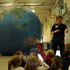St Rose of Lima School students were introduced to the Earth Dome, also called the Earth Balloon, by Derek McDonald, with Mobile Ed Productions, on Tuesday, April 9. Students learned about different areas of the Earth by moving around the balloon before entering inside the dome to learn more from the presentation. (Hallabeck photo)