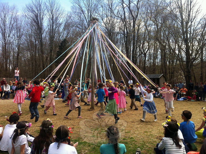Housatonic Valley Waldorf School students danced around a Maypole on Friday, May 1, during the school's annual May Fair. (Hallabeck photo)